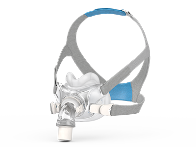 AirFit-F30-helmaske-med-maskepute-under-nesen-for-søvnbehandling-ResMed