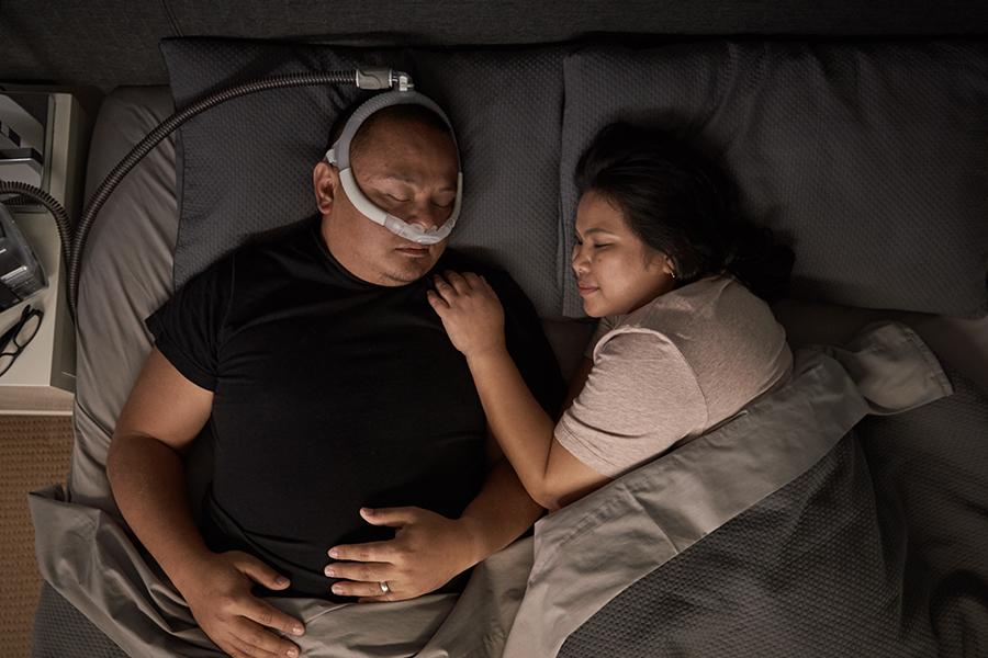 tube-up-stille-nese-puter-maske-søvn-apné-ResMed-AirFit-P30i